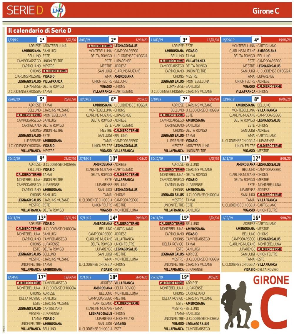 Ecco Il Calendario Di Serie D Girone C